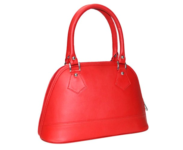 Red Leatherette Handbags