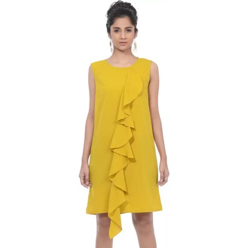 Sassy Stripes Women Sheath Yellow Dress