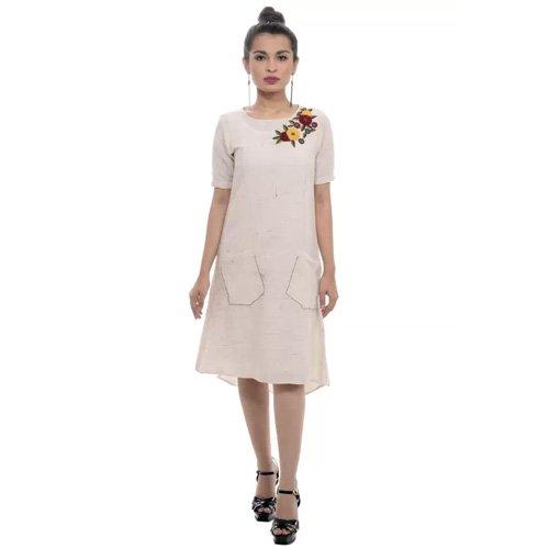 Sassy Stripes Women's Sheath White Dress