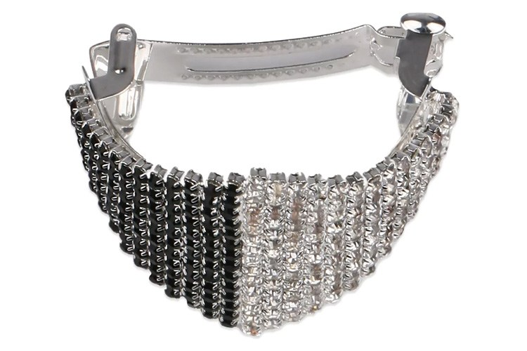 Silver And Black Blingy Hair Clip