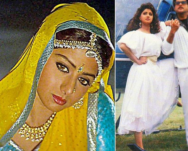 Sridevi Fashion Outfits