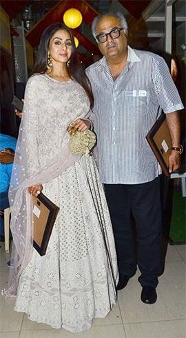 Sridevi and Boney Kapoor International Customs Day event