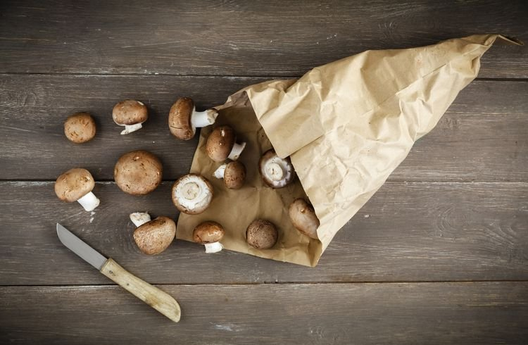 Store Mushrooms With A Paper Bag