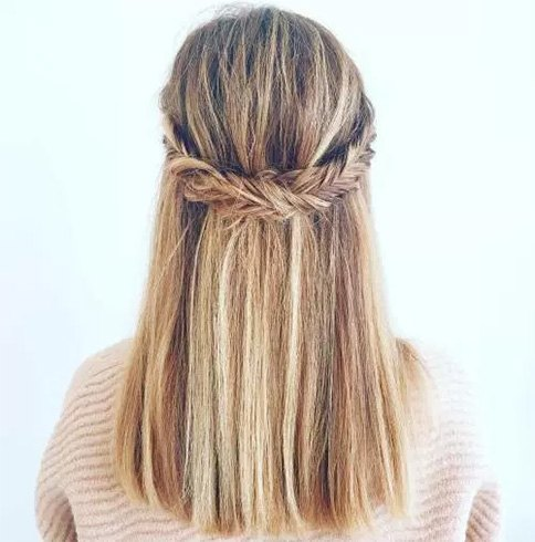 Straight Half Down Hairstyle