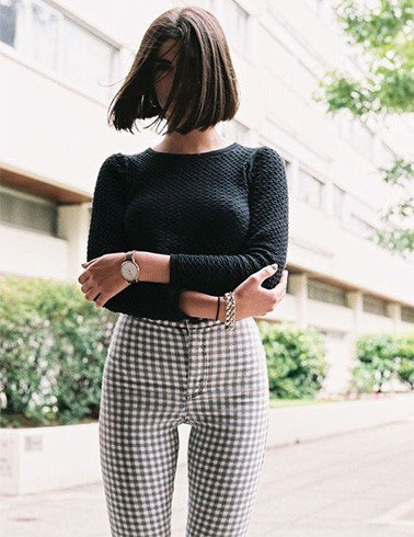 Stylish Gingham Outfit Idea