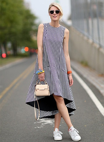 Trendy Gingham Dress