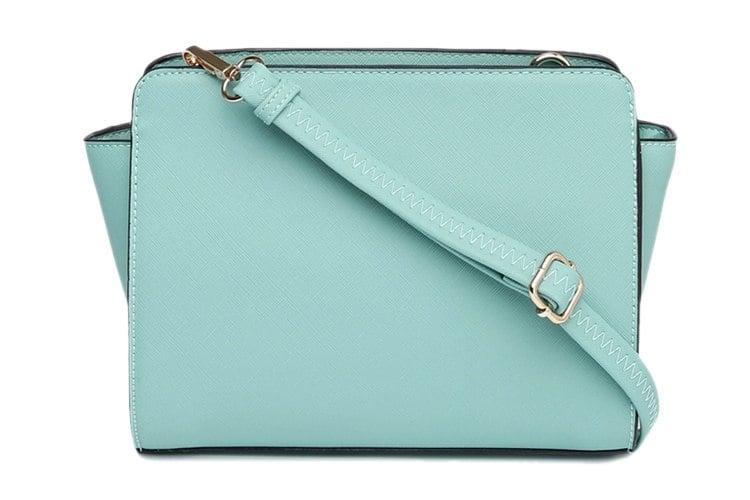 Turquoise Polyurethane (Pu) Sling Bag
