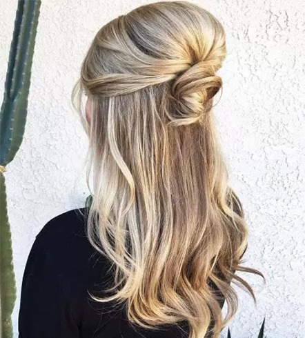 Voluminous Bouffant Half-Updo