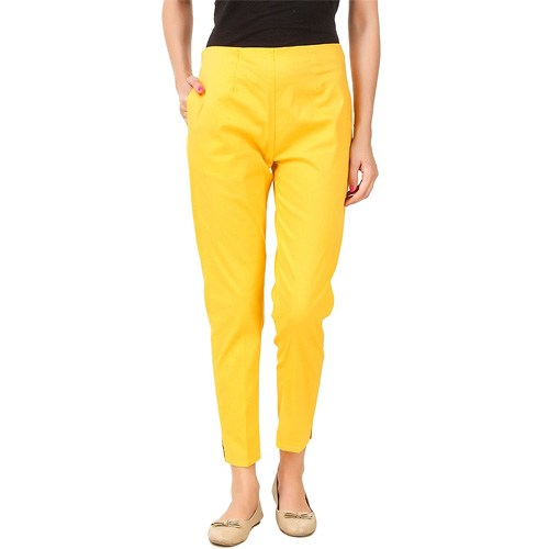 Womens Cotton Lycra Trousers