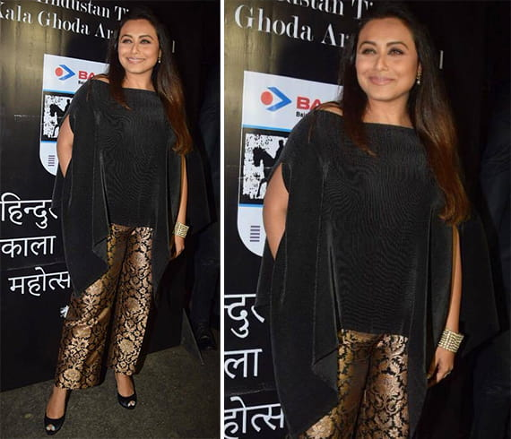 Black With Metallics by Rani Mukerji