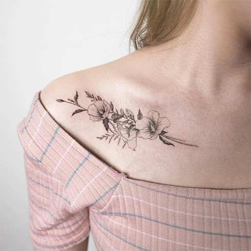 Collarbone Tattoo Ideas