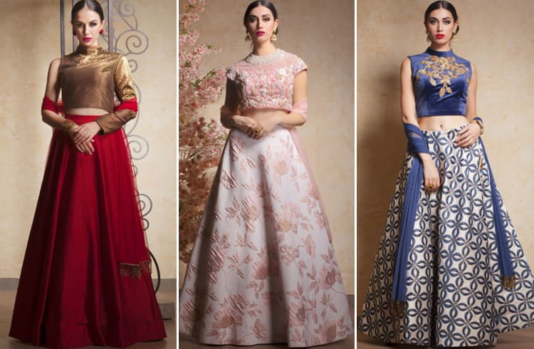 The Crop Top Lehengas