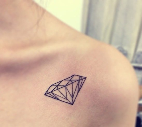 Diamond Shaped Collarbone Tattoo Trend