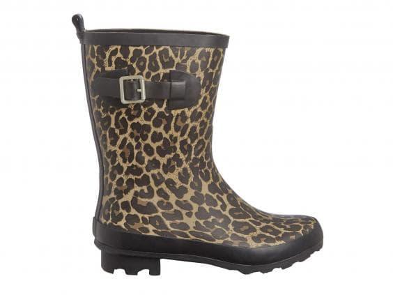 George Leopard Print Wellington Boots