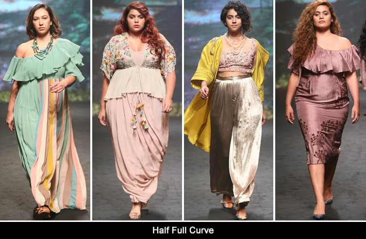 Half Full Curve at Lakmé Fashion Week summer resort 2018