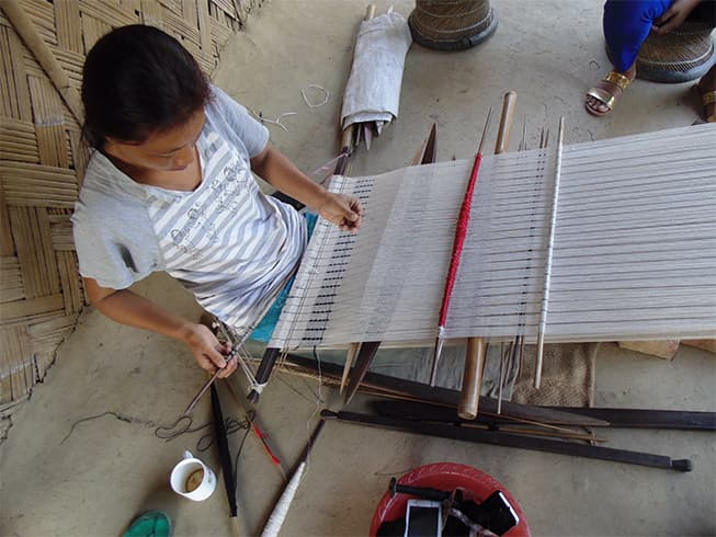 Jenjum Gadi from Arunachal Pradesh will showcase textiles by Loinloom artisans