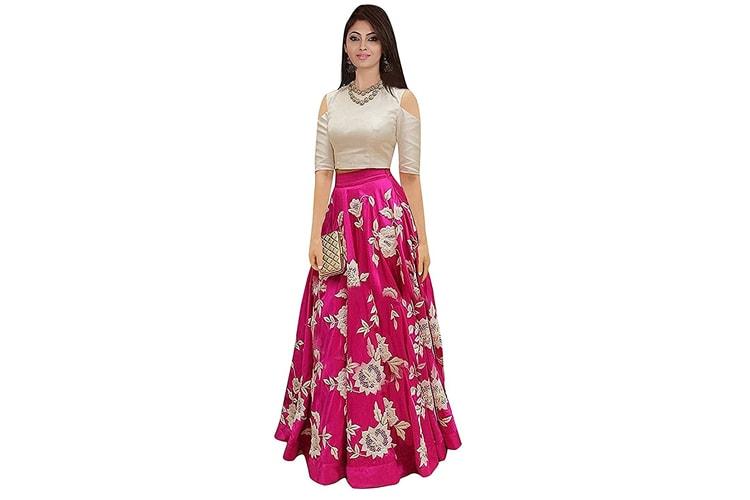 Ecolors Fab Women's Silk Lehenga Choli