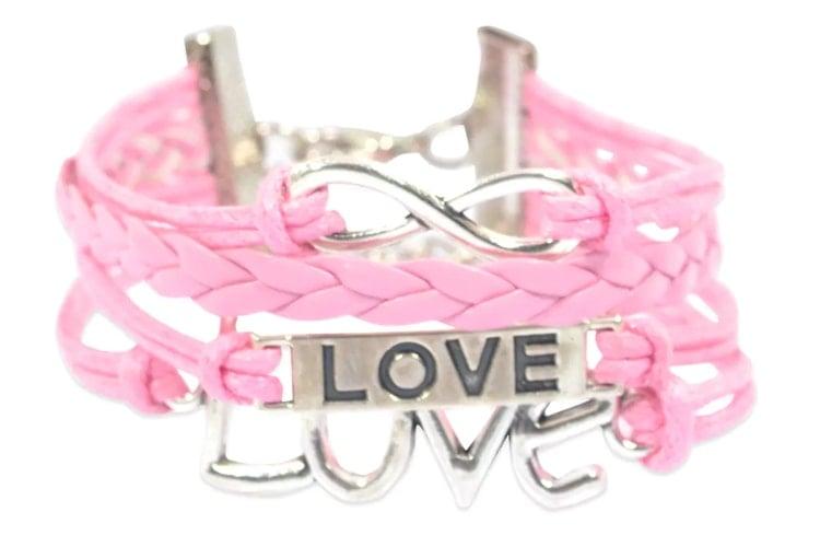 Pink Metal Bracelet
