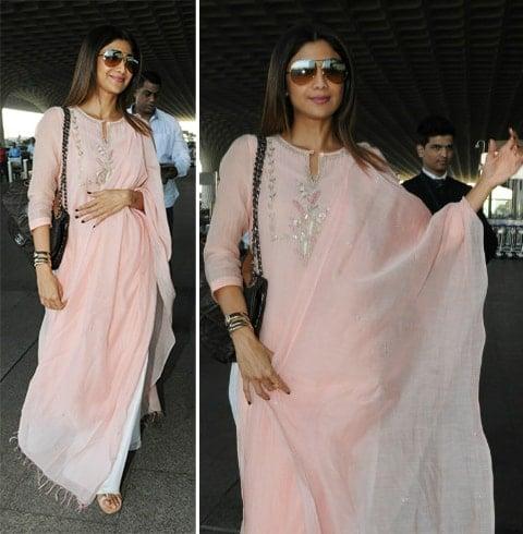 Shilpa Shetty Airport Style
