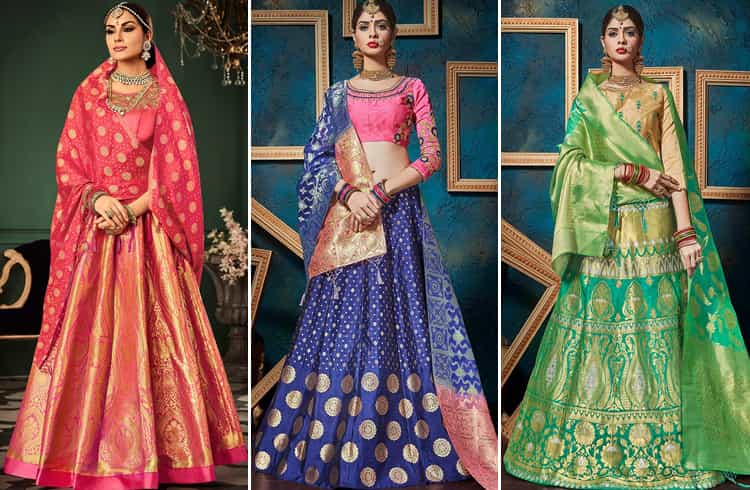 The Silk lehenga choli designs