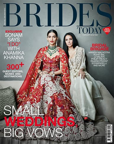 Sonam Kapoor and Anamika Khanna on Brides Today India February 2018
