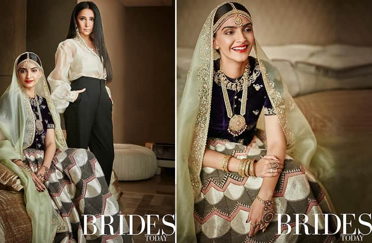 Sonam Kapoor and Anamika Khanna on Brides Today India