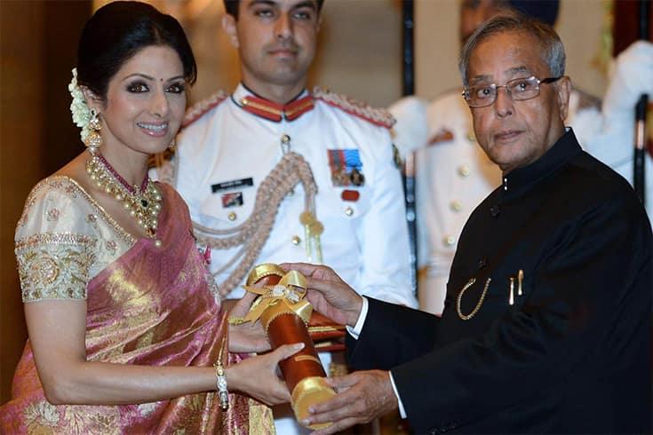 Sridevi Padma Shri Award