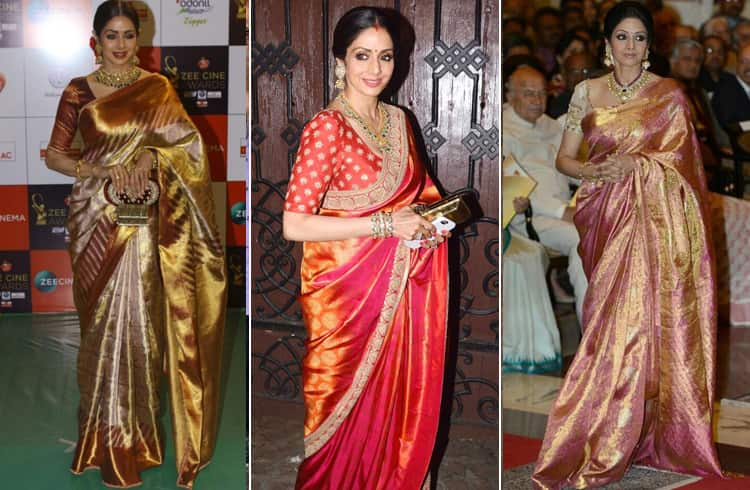 Sridevi in Silk Saree