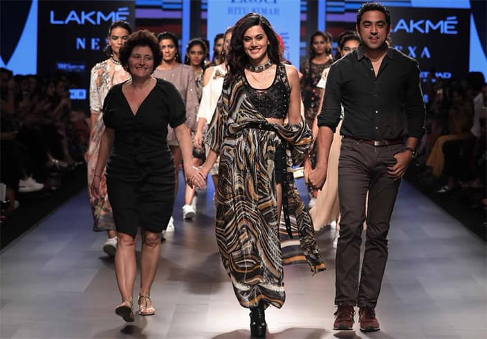 Taapsee Pannu for Ritu Kumar at Lakmé Fashion Week summer resort 2018