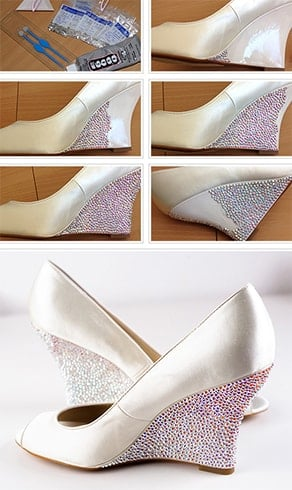 How To Put Rhinestones On Shoes