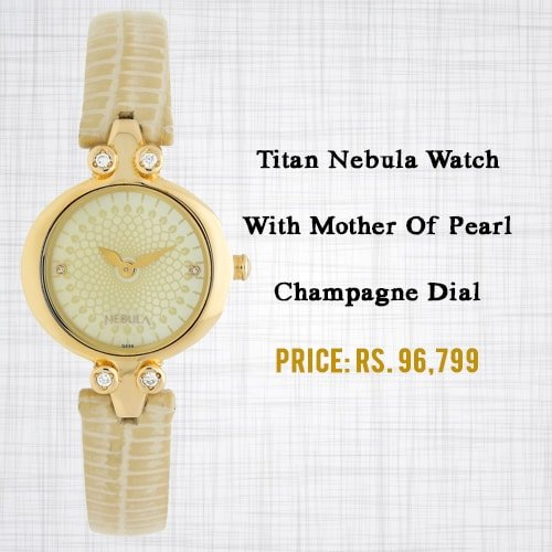 Titan Nebula Watch With Mother Of Pearl Champagne Dial