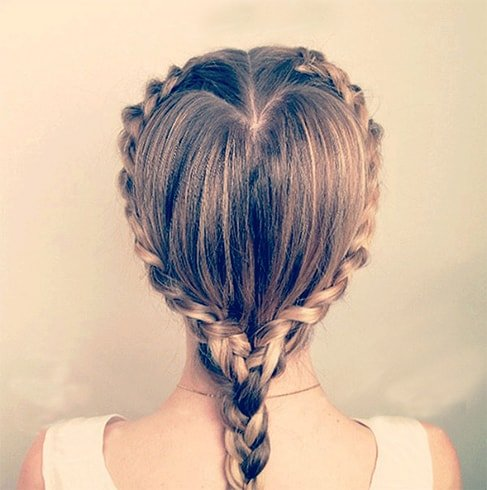 Twisted Heart Braids