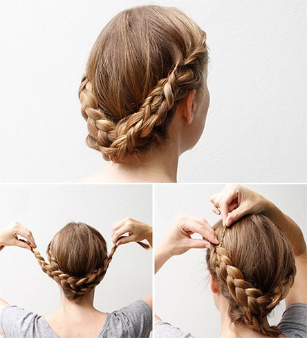 Updo With Three-Strand Braid