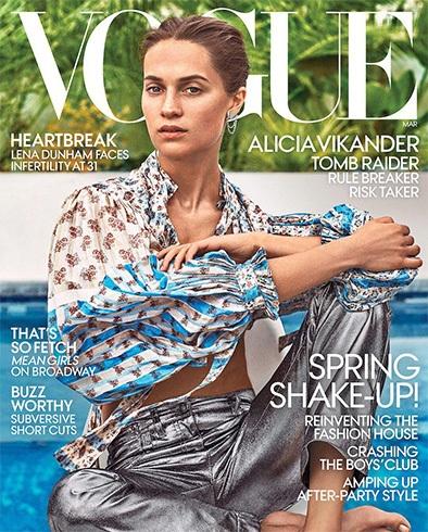 Alicia Vikander for Vogue US