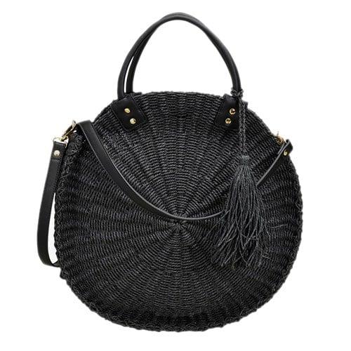 Black Jute Handbag