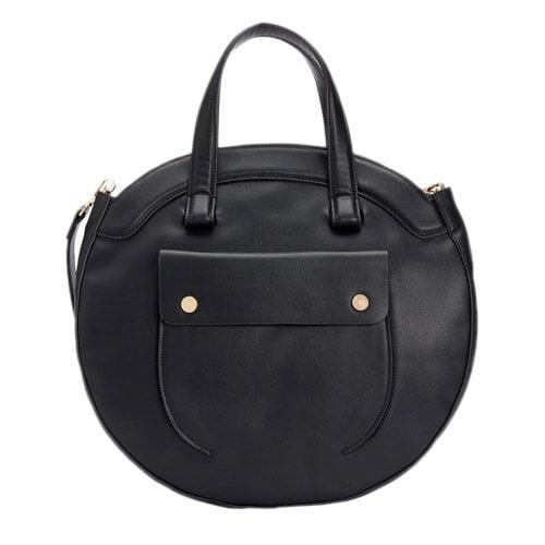 Black Polyurethane Handbag