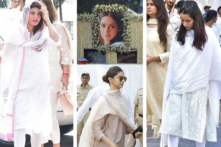 Celebrities and Fans at Iconic Actress Sridevi
