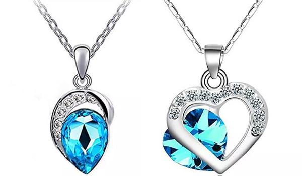 Crystal Blue Pendants