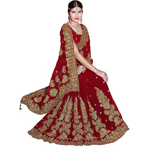 Embroidered Bridal Wedding Saree