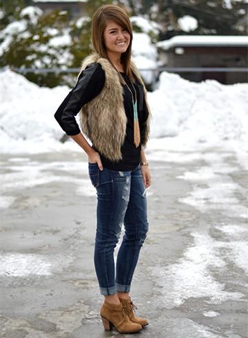 FauxFur Coat Womens