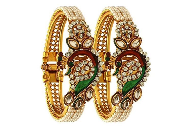 Gold Plated Bangle set for women