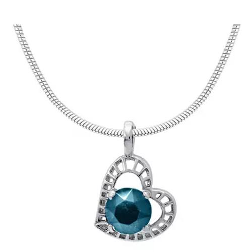 Heart Rhodium Plated Pendant For Women