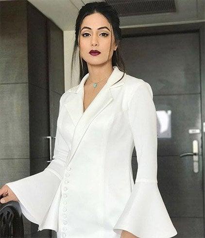 Hina Khan Lipstick
