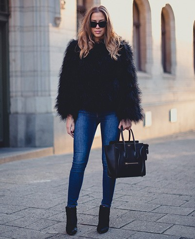 How To Wear a Cropped Faux Fur Coat