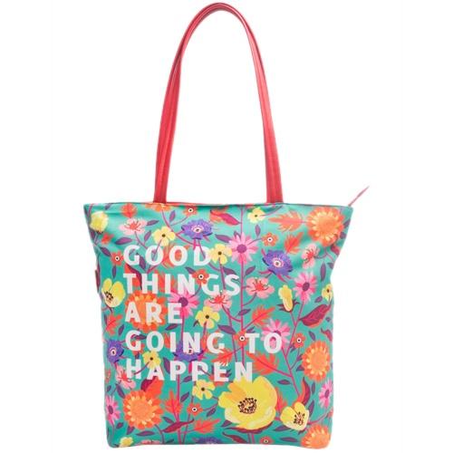 Multicoloured Polyester Handbag