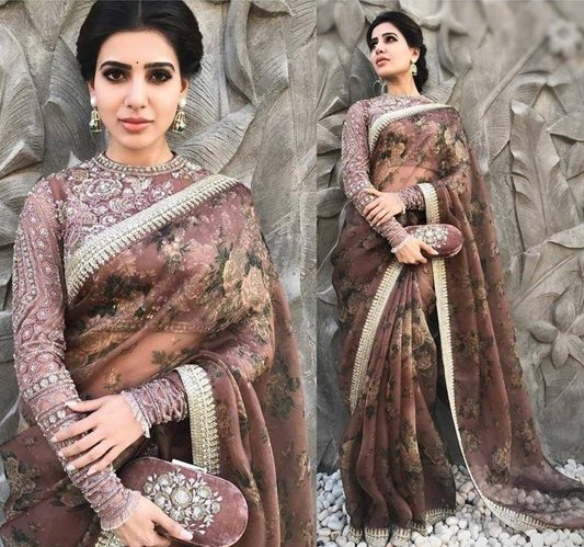 Samantha in Sabyasachi Fashion