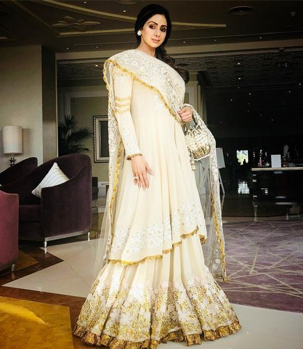 Sridevi in Manish Malhotra Fashion