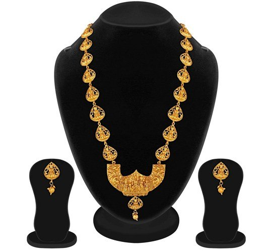 Temple Necklace Jewellery Set for Women
