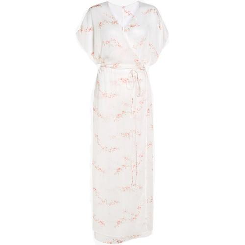 White Maxi Wrap Kimono