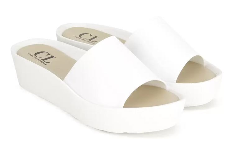 Women White Wedges